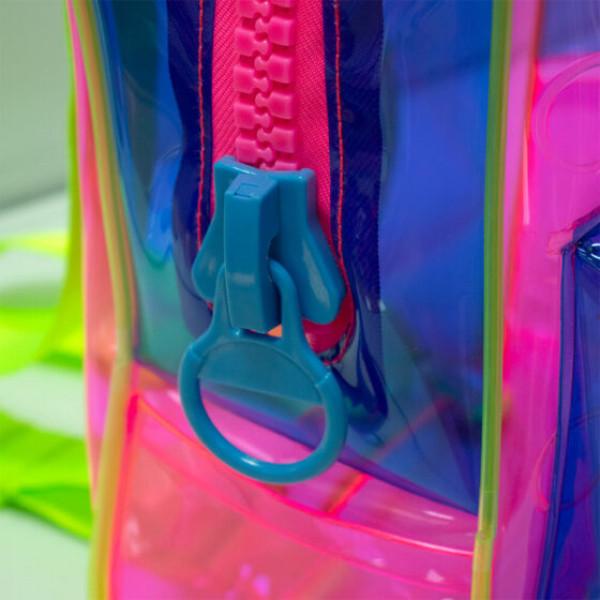Mochila Bubble Cristal Rosa Translúcido - DAC