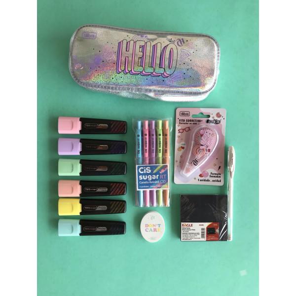 Kit Holográfico Capricho + Cor Pastel