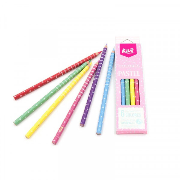 Lápis De Cor Com 6 Cores Pastel - Norma