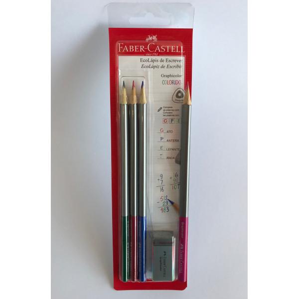 Lápis de Escrever Colorido Faber-Castell (4 Lápi...