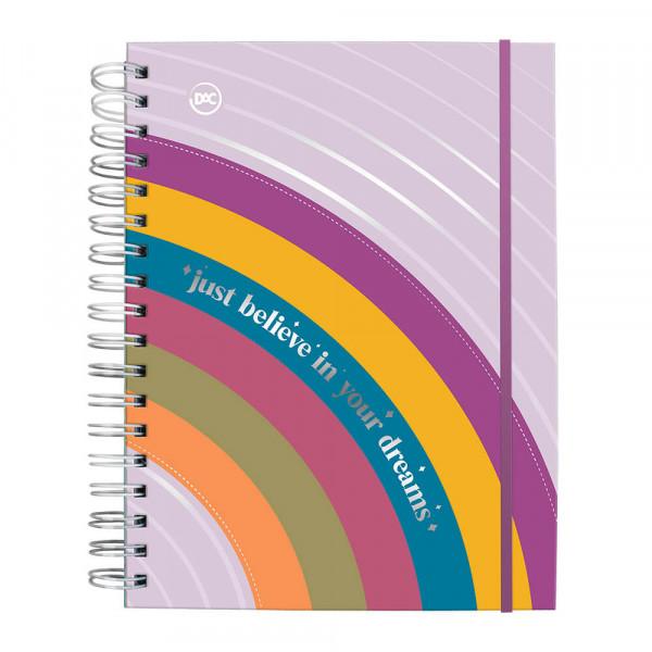 Caderno Smart  com Folhas Tira e Põe - Arco Iris ...