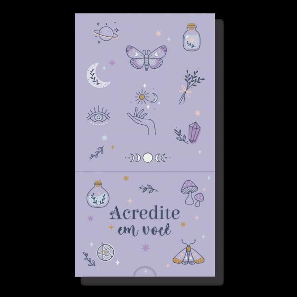Bloco De Mesa Note Box Místico - Cartões Gigantes
