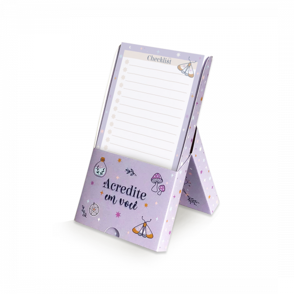 Bloco De Mesa Note Box Místico - Cartões Gigante...