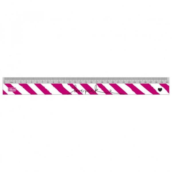 Régua Love Pink 30 cm - Tilibra