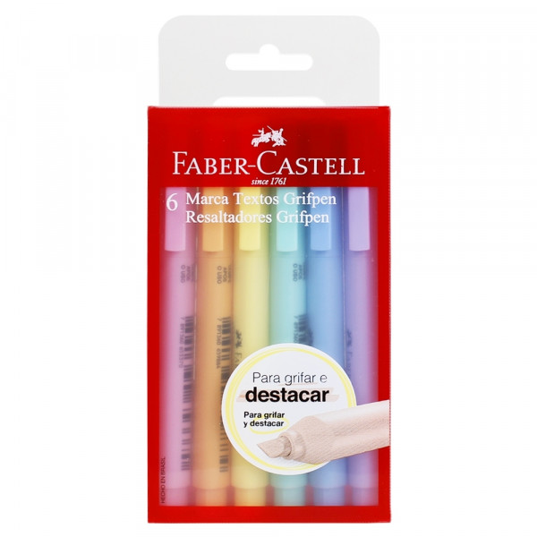 Marca Texto Faber Castell Pastel 6 Cores