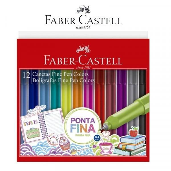 Caneta Fine Pen Colors Faber Castell Modelo 1 - 12...
