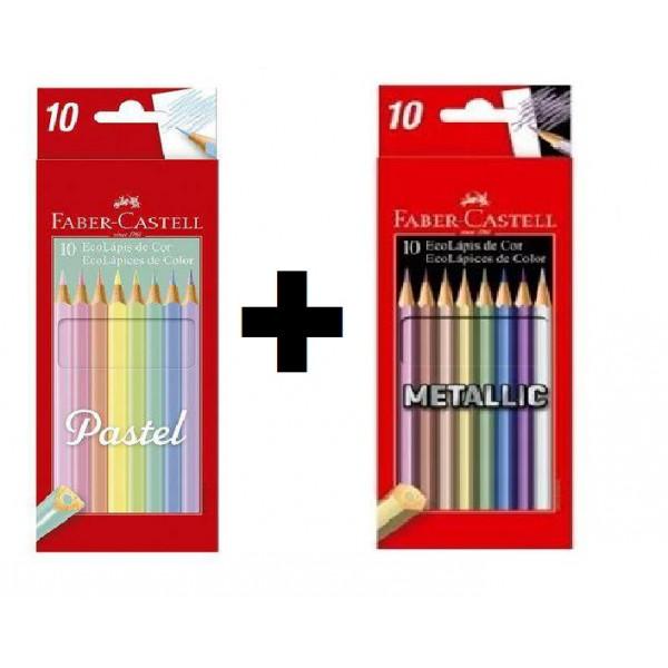Lápis de Cor Pastel Faber Castell + Lápis de Cor...