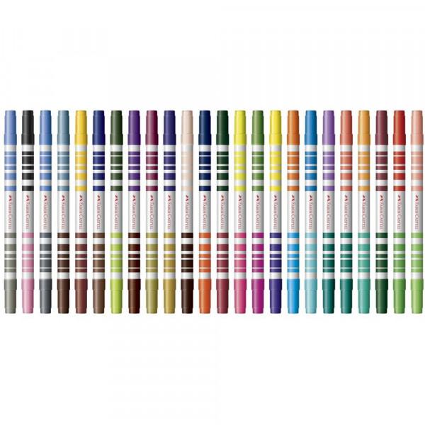 Caneta Hidrocor Bicolor Faber Castell 24 - 48 Cores