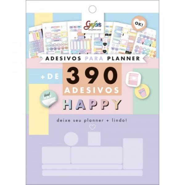 Adesivo Para Planner Happy - Tilibra