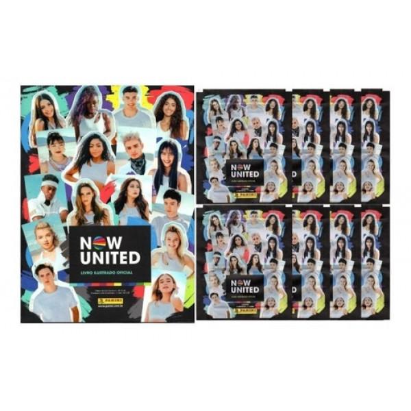 Álbum de Figurinhas Now United + 24 Figurinhas + 6 Cards - Panini