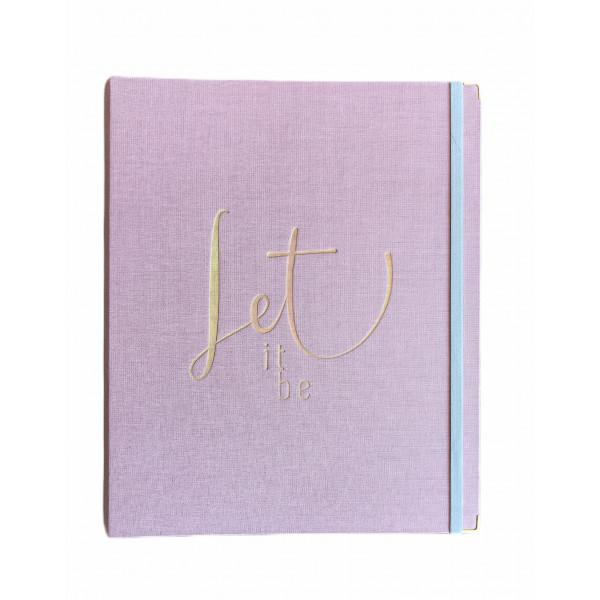 Caderno Cotton Rosa Grande SystemFlex - Ótima