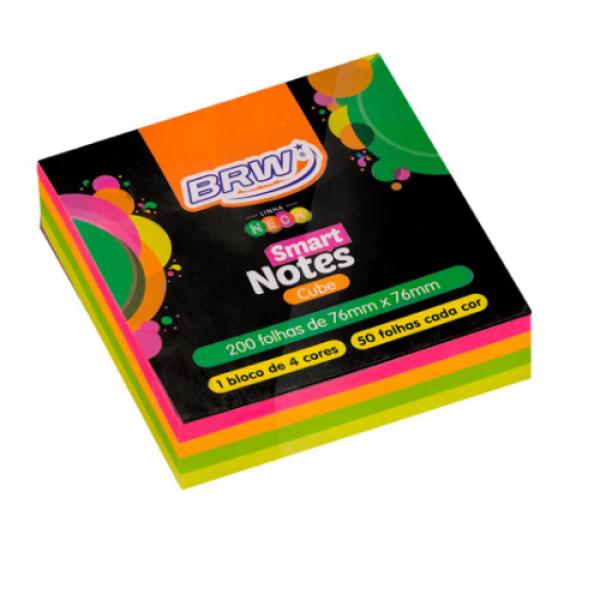 Bloco Adesivo Smart Notes Quadrado - Brw