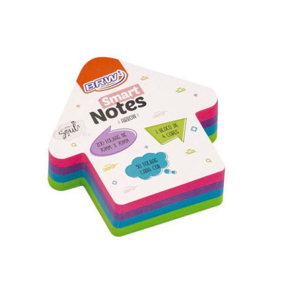 Bloco Adesivo Smart Notes Seta - Brw