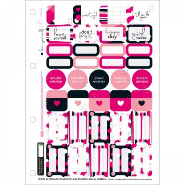 Bloco De Fichário Love Pink 80 Fls - Tilibra