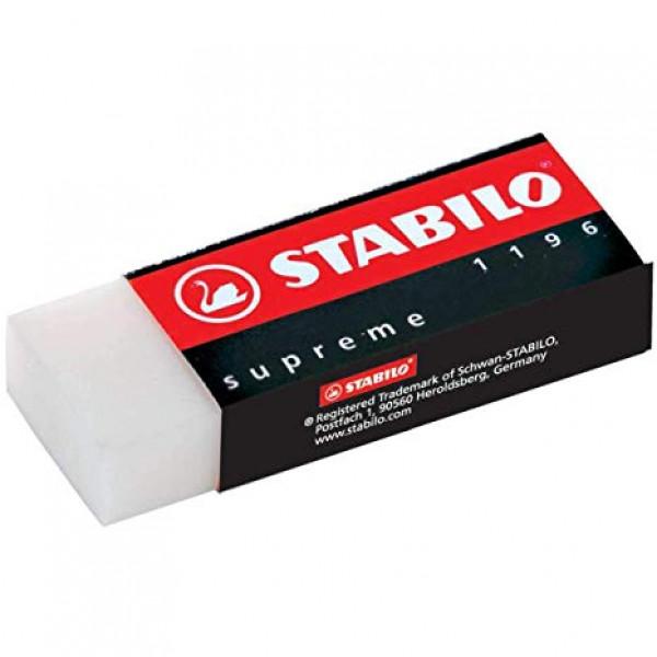 Borracha Stabilo Supreme Branca