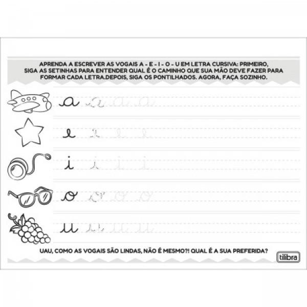 Caderno De Alfabetização Letra Cursiva - Tilibra