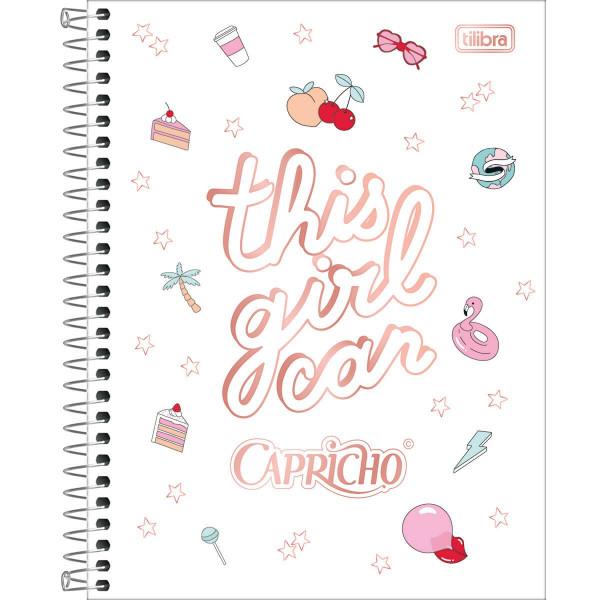Caderno Capricho 10 Matérias Colegial - Tilibra