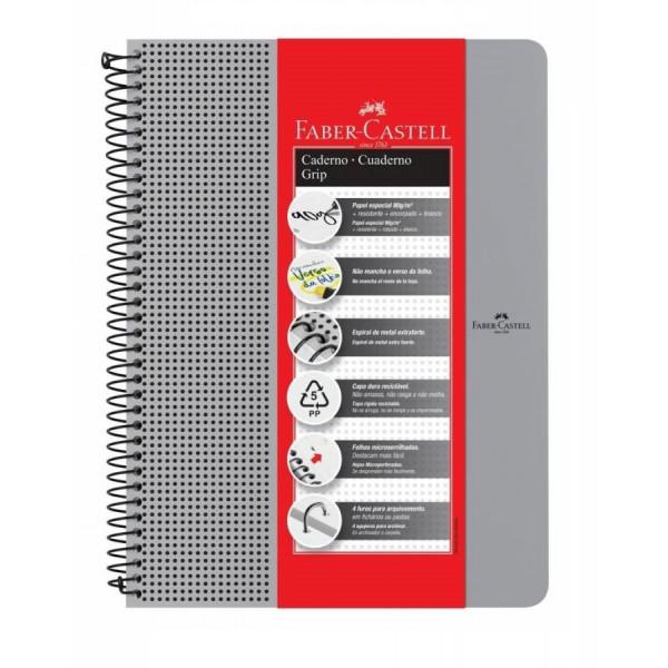 Caderno Grip Faber Castell Pautado 90g/m²