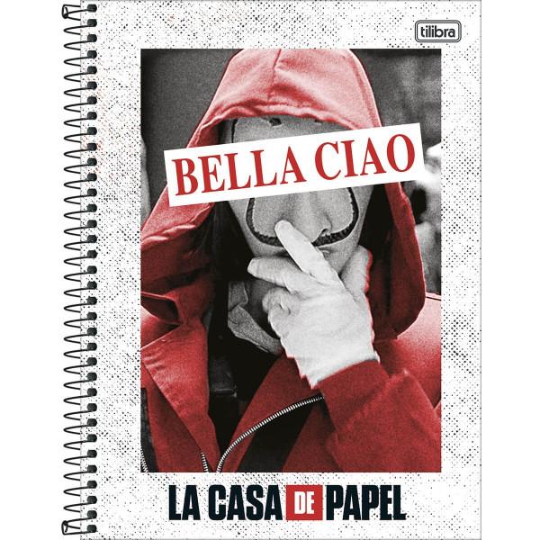 Caderno La Casa De Papel 1 Matéria - Tilibra