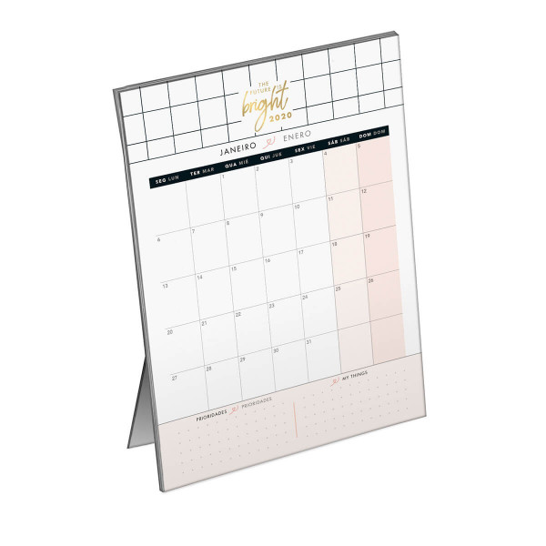 Calendário 2020 West Village Planner de Mesa - Ti...
