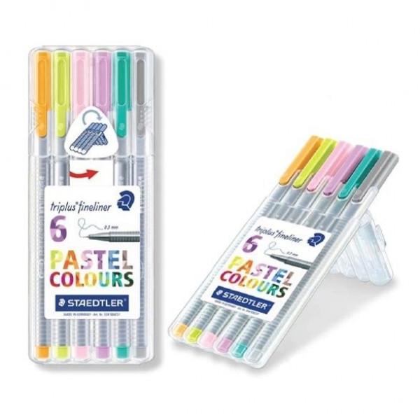 Caneta Staedtler Triplus Fineliner Pastel 6 Cores