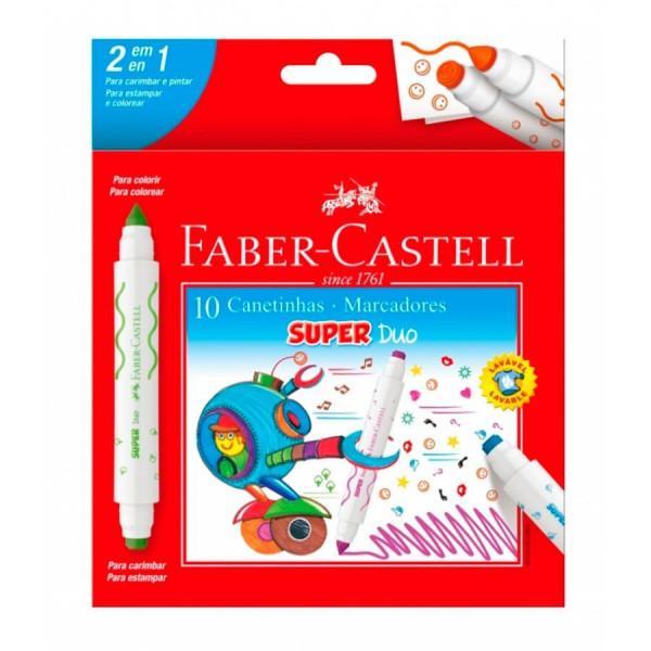 Caneta Hidrocor Super Duo Carimbo Faber Castell