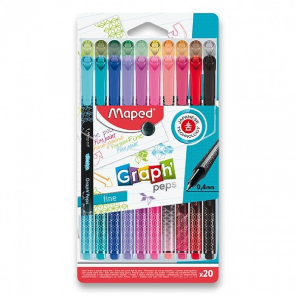 Caneta Fineliner Maped Graph Peps - 20 Cores