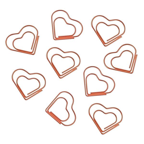 Clips Coração Rose Gold 20 Unidades - Tilibra