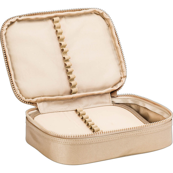 Estojo Box 100 Pens West Village Metalizado Dourado - Tilibra