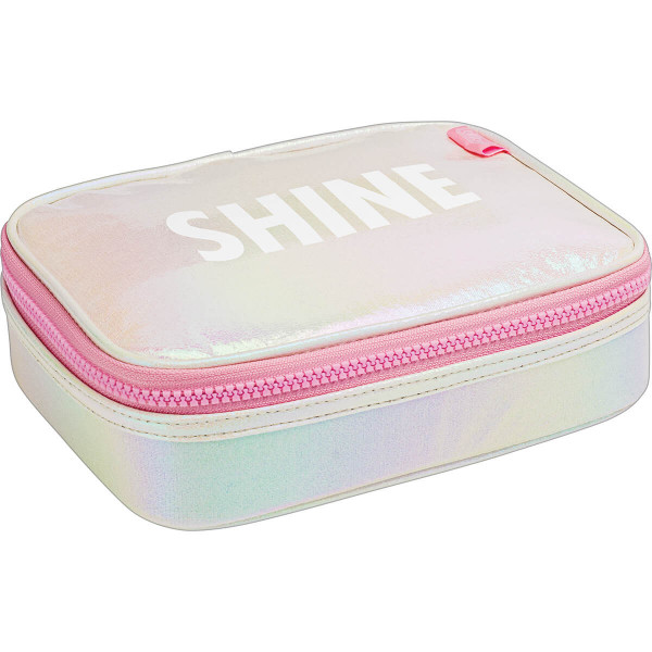 Estojo Box Shine Rosa - Tilibra