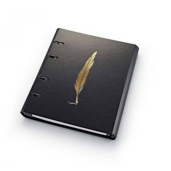 Fichário Noir Pena Ótima Caderno Argolado