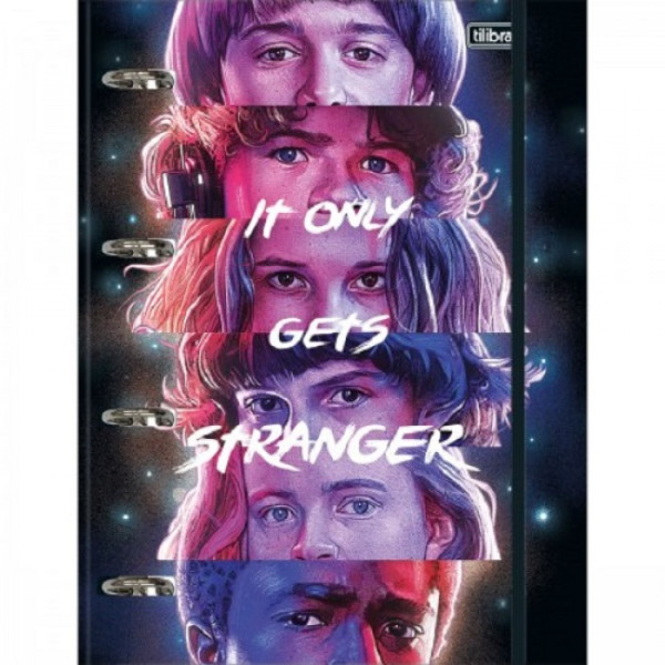 Fichário Stranger Things Universitário - Tilibra...