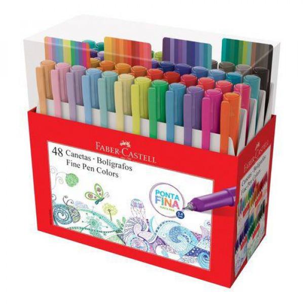Caneta Fine Pen Colors 48 Cores Faber Castell