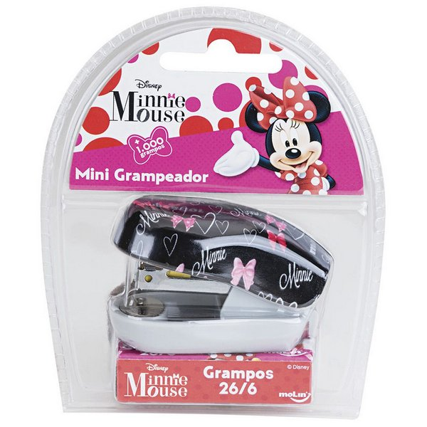 Grampeador Minnie + 1000 Grampos - Molin