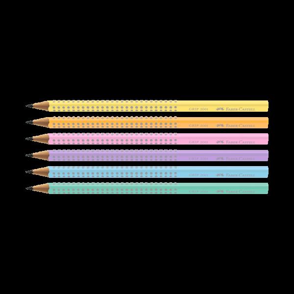 Lápis Preto Pastel Grip Faber Castell - Kit 6 Uni...