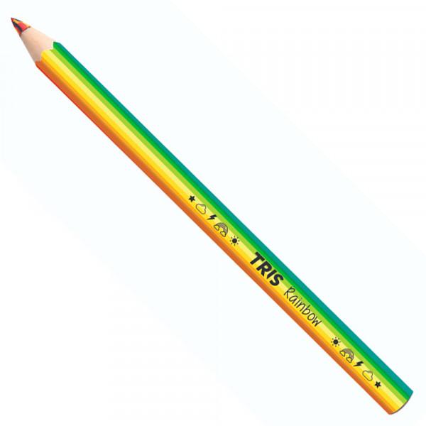 Lápis Arco Íris Colorido - Tris