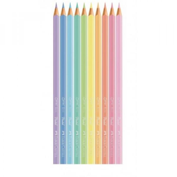 Lápis de Cor Pastel 10 Cores - Faber Castell