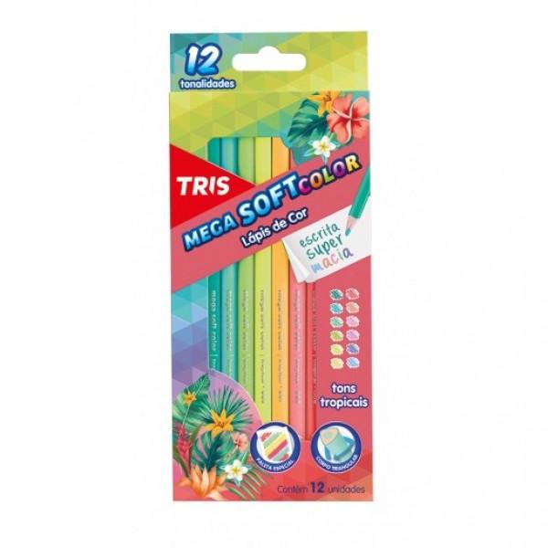 Lápis de Cor Tropical 12 Cores - Tris