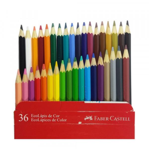 Lápis de Cor Faber Castell 36 Cores Sextavado