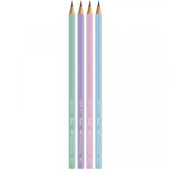 Lápis Preto Pastel Faber-Castell - Kit 4 Unidades...