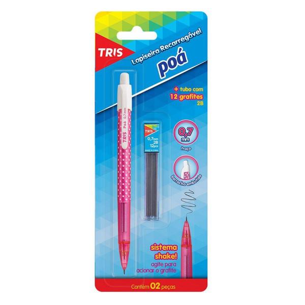 Lapiseira Poá 0.7mm Com Grafite - Tris