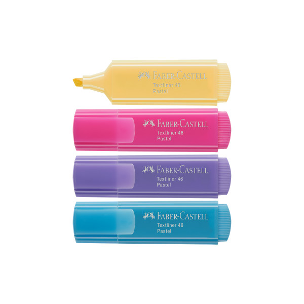 Marca Texto Textliner 46 Pastel 4 Cores - Faber Castell