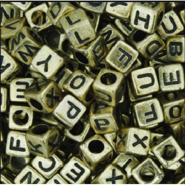 Miçangas Alfabeto - 120 Unidades