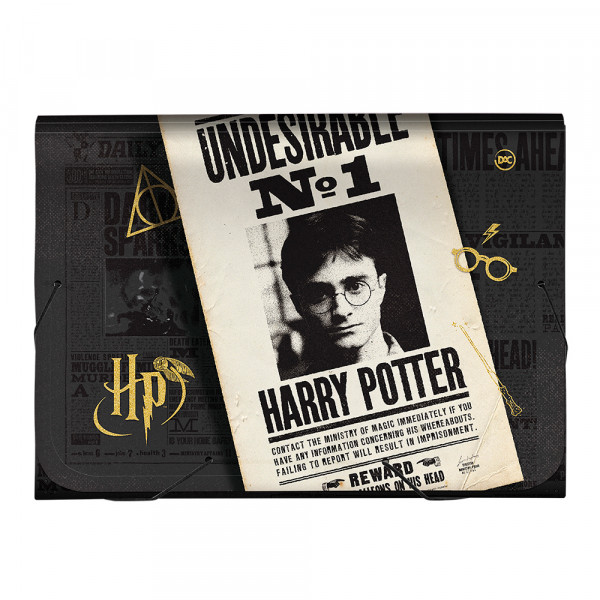 Pasta Sanfonada Harry Potter 12 Divisórias - Dac