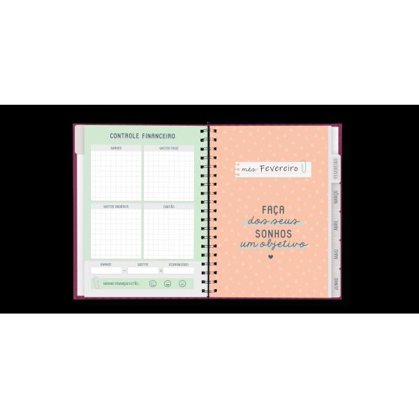 Planner Anual Floral - Cartões Gigantes