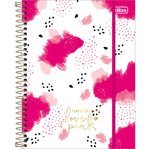 Planner 2020 Love Pink Espiral M7 - Tilibra