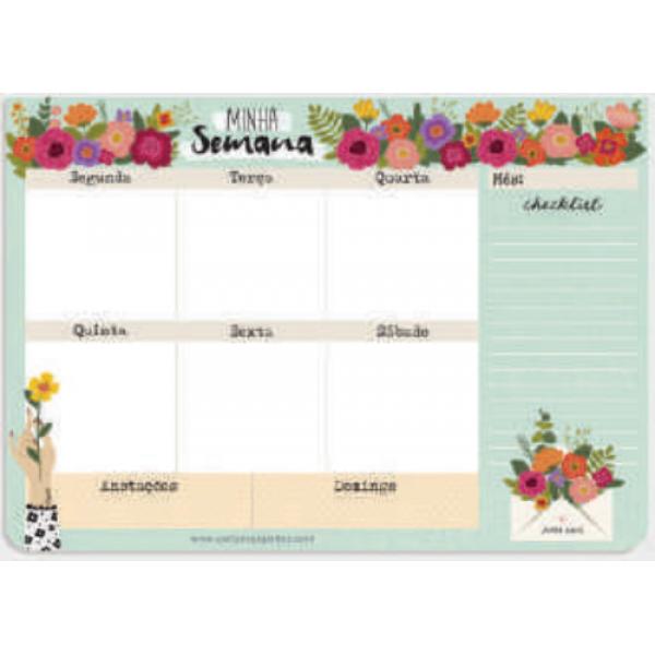 Planner Semanal Florir - Cartões Gigantes