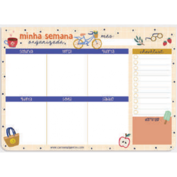 Planner Semanal Happy Time - Cartões Gigantes