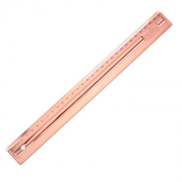Régua Metalizada Rose Gold 30 cm - Dello