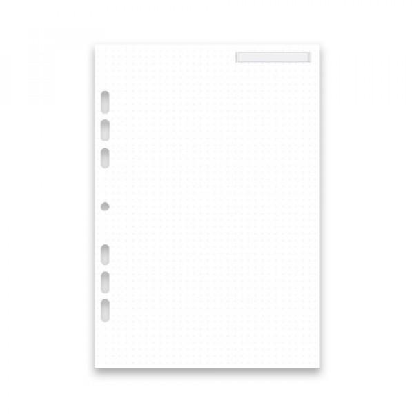 Refil Fichário Ótima Gráfica Branco Pontilhado